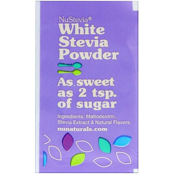 NuStevia, White Stevia Powder, 1000 Packets, 2.23 lbs (1000 g)