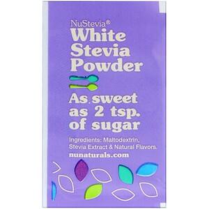 НуНатуралс, NuStevia, White Stevia Powder, 1000 Packets, 2.23 lbs (1000 g) отзывы покупателей