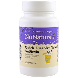 NuNaturals, NuStevia Quick Dissolve Tabs, 150 Tablets