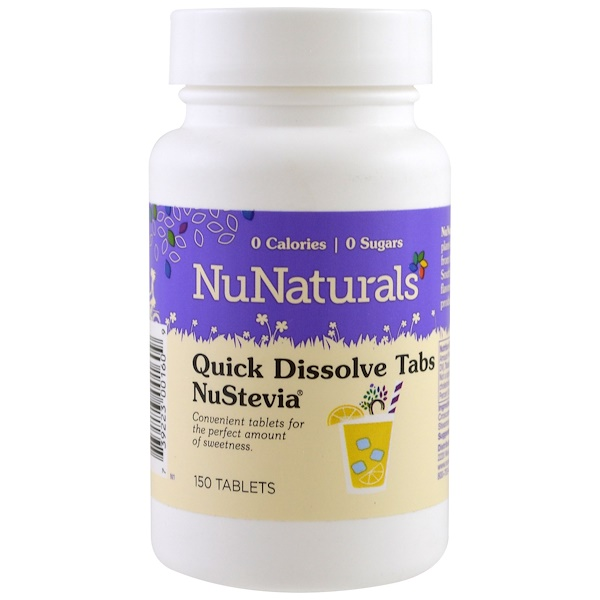 NuNaturals, NuStevia Quick Dissolve Tabs, 150 Tablets (Discontinued Item)