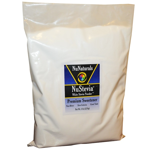 NuNaturals, NuStevia, White Stevia Powder, 5 lbs (2270 g) (Discontinued Item)