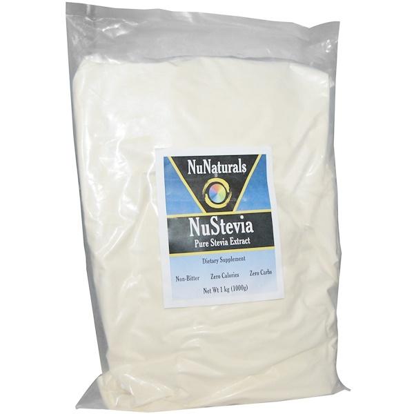 NuNaturals, NuStevia, Pure Stevia Extract, 1 kg (1000 g) (Discontinued Item)