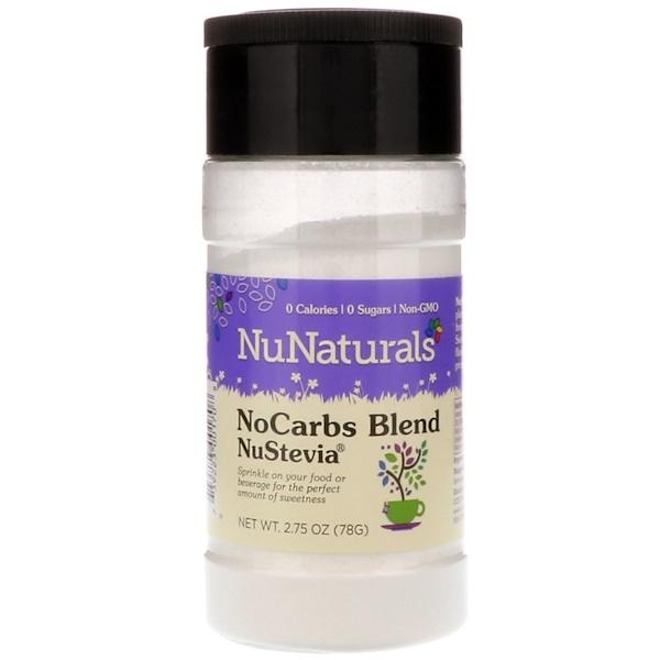 NuNaturals, NuStevia,無碳水化合物,2、75盎司(78克)