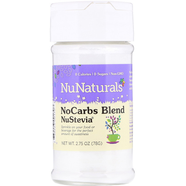 NuNaturals, NuStevia, NoCarbs Blend, 2.75 oz (78 g) (Discontinued Item)