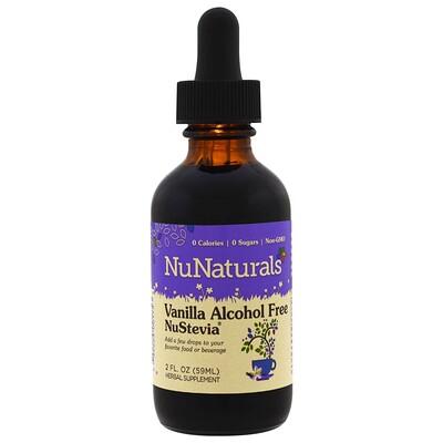 NuNaturals NuStevia, ванильная, безалкогольная стевия, 59 мл (2 жидких унции)