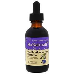 NuNaturals, NuStevia,香草、無酒精,2液體盎司(59毫升)