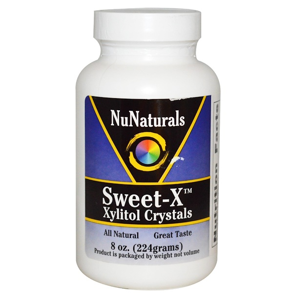 NuNaturals, Sweet-X, Xylitol Crystals, 8 oz (224 g) (Discontinued Item)