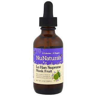 NuNaturals, Lo Han Supreme Monk Fruit、2 oz (59 ml)