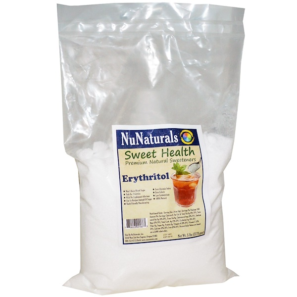 NuNaturals, Erythritol, 5 lbs (2270 g) (Discontinued Item)