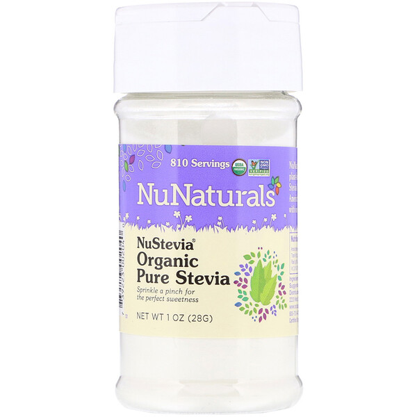NuNaturals, NuStevia, Organic Pure Stevia, 1 oz (28 g) (Discontinued Item)
