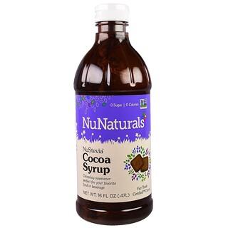 NuNaturals, Какао-сироп NuStevia, 16 жидких унций (0,47 л)