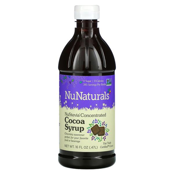NuNaturals, NuStevia jarabe de cacao, 16 onzas líquidas (.47 l)