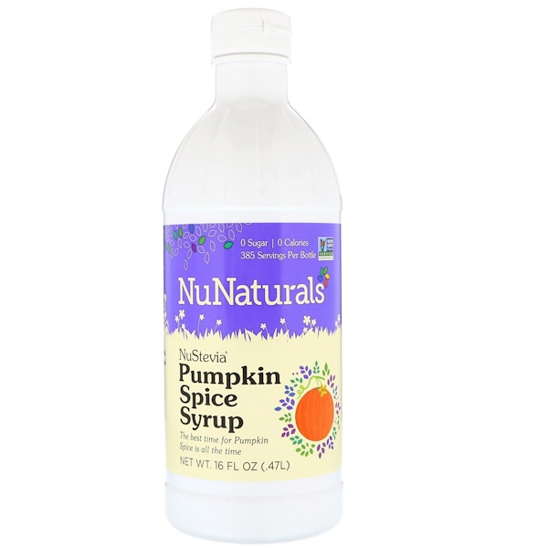 NuNaturals, NuStevia, Pumpkin Spice Syrup, 16 fl oz (.47 l) (Discontinued Item)