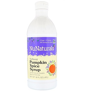 НуНатуралс, NuStevia, Pumpkin Spice Syrup, 16 fl oz (.47 l) отзывы