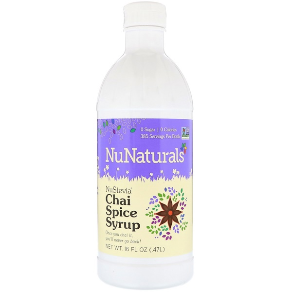NuNaturals, Chai Spice Syrup, 16 fl oz (.47 l) (Discontinued Item)