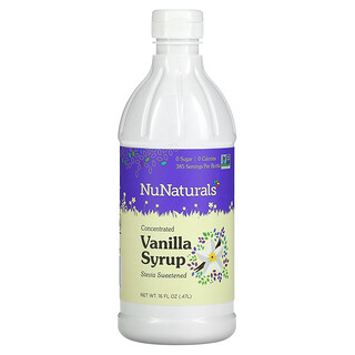 NuNaturals, Concentrated Vanilla Syrup, 16 fl oz (0.47 l)