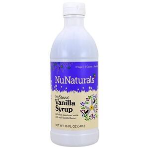 НуНатуралс, NuStevia, Vanilla Syrup, 16 fl oz (47 l) отзывы покупателей