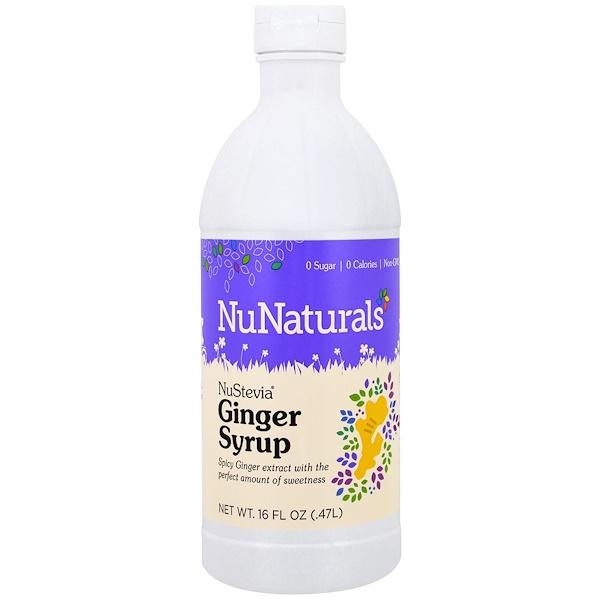 NuNaturals, NuStevia, Ginger Syrup, 16 fl oz (.47 l) (Discontinued Item)