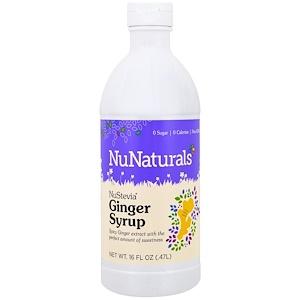 НуНатуралс, NuStevia, Ginger Syrup, 16 fl oz (.47 l) отзывы