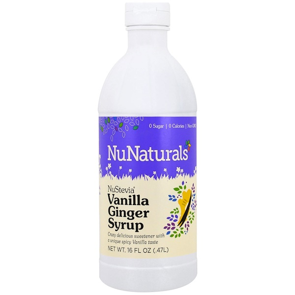 NuNaturals, Nustevia, Vanilla Ginger Syrup, 16 fl oz (47 l) (Discontinued Item)