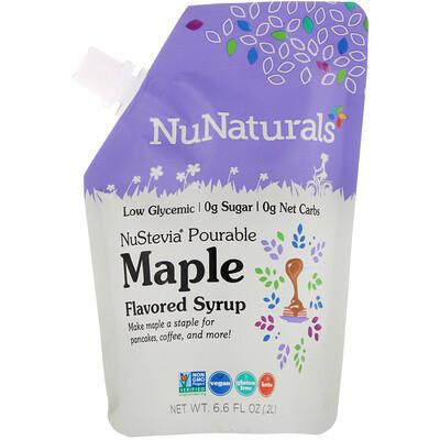 NuNaturals NuStevia, Pourable Maple Flavor Syrup, 6.6 fl oz (.2 l)  - купить со скидкой