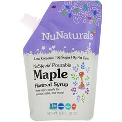 NuNaturals, NuStevia,傾注式楓糖味,6.6 液量盎司(0.2 升)