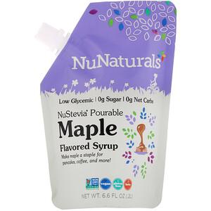 НуНатуралс, NuStevia, Pourable Maple Flavor Syrup, 6.6 fl oz (.2 l) отзывы покупателей