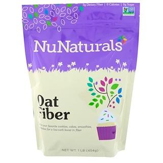 NuNaturals, NuGrains, овсяная клетчатка, 1 фунт (454 г)