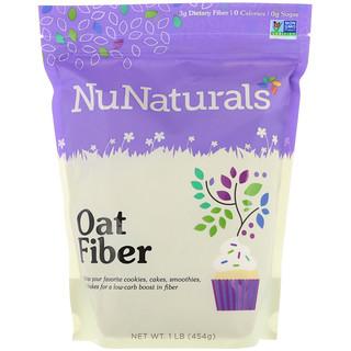 NuNaturals, ألياف الشوفان، رطل واحد (454 غرام)