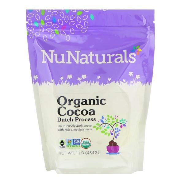 NuNaturals, Organic Cocoa Dutch Process Powder, 1 lb (454 g)