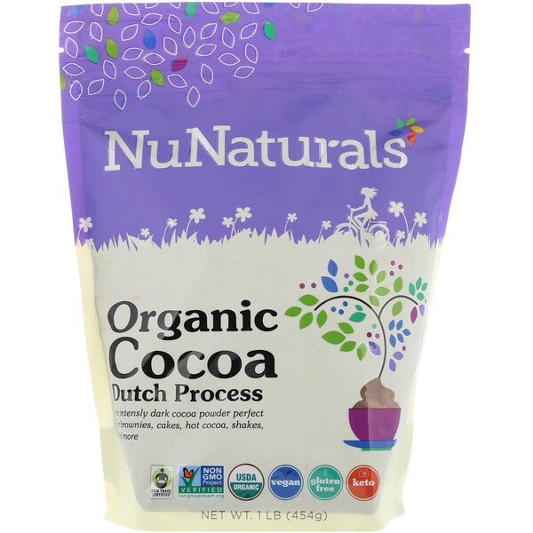 NuNaturals, Organic Cocoa, 1 lb (454 g) (Discontinued Item)