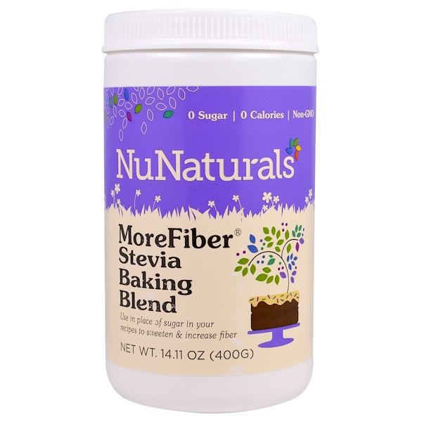 NuNaturals, MoreFiber, Stevia Baking Blend, 14.11 oz (400 g) (Discontinued Item)