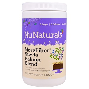 НуНатуралс, MoreFiber, Stevia Baking Blend, 14.11 oz (400 g) отзывы покупателей