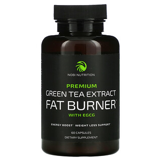 Nobi Nutrition, Premium Green Tea Extract Fat Burner with EGCG, 60 Capsules