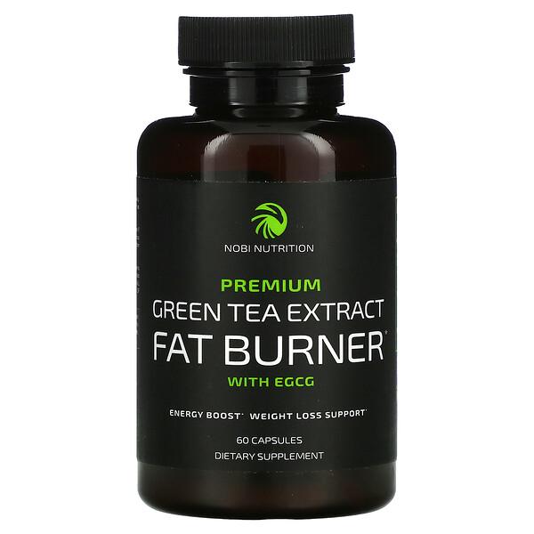 Premium Green Tea Extract Fat Burner with EGCG, 60 Capsules