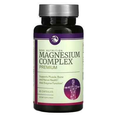 Nobi Nutrition Premium Magnesium Complex, 60 Capsules