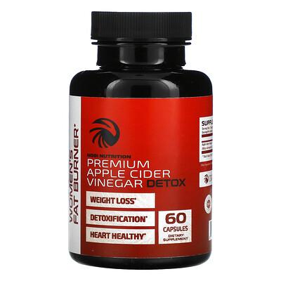 Nobi Nutrition Premium Apple Cider Vinegar Detox, 60 Capsules