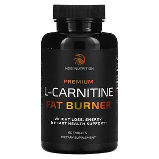 Nobi Nutrition, Premium L-Carnitine Fat Burner, 60 Tablets