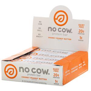 No Cow, Protein Bar, Chunky Peanut Butter, 12 Bars, 2.12 oz (60 g) Each отзывы