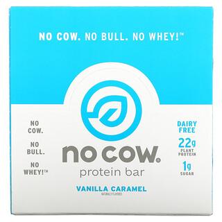 No Cow, لوح بروتين، كراميل الفانيليا، 12 لوح، 2.12 أونصة (60 جم) لكل لوح