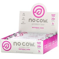 No Cow, Protein Bar, Birthday Cake, 12 Bars, 2.12 oz (60 g) Each