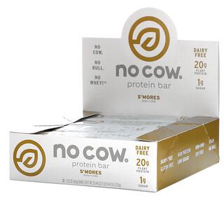 No Cow, Protein Bar, S'mores, 12 Bars, 2.12 oz (60 g)