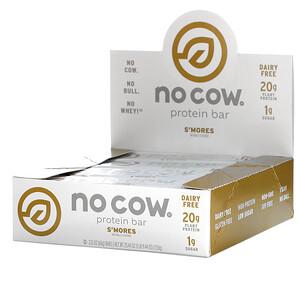 No Cow, Protein Bar, S'mores, 2.12 oz (60 g)