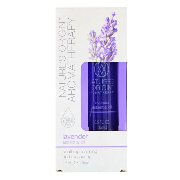 Nature's Origin, Aromatherapy, Essential Oil, Lavender, 0.5 fl oz (15 ml)
