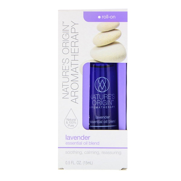 Nature's Origin, Aromatherapy, Essential Oil Blend, Lavender Roll-On, 0.5 fl oz (15 ml)