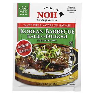 NOH Foods of Hawaii, Korean Barbecue Kalbi or Bulgogi Seasoning Mix, 1.5 oz (42 g)