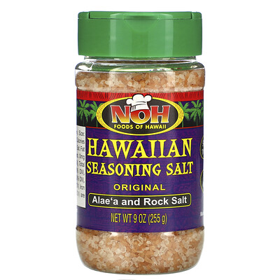 Купить NOH Foods of Hawaii Hawaiian Seasoning Salt, Original, 9 oz (255 g)