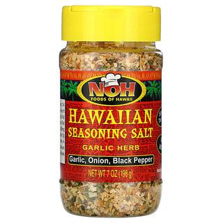 NOH Foods of Hawaii, Hawaiian Seasoning Salt, Garlic Herb, 7 oz (198 g)