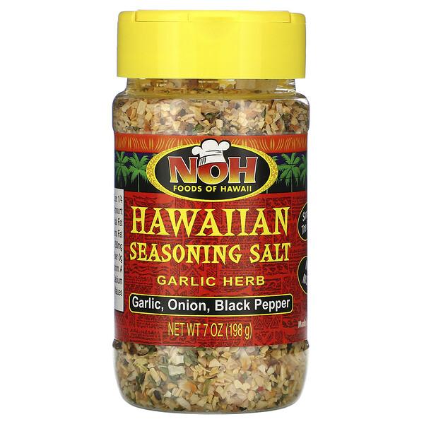 Hawaiian Seasoning Salt, Garlic Herb, 7 oz (198 g)