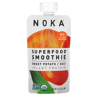 Noka, Superfood Smoothie + Plant Protein, Sweet Potato, Goji, 4.22 oz (120 g)